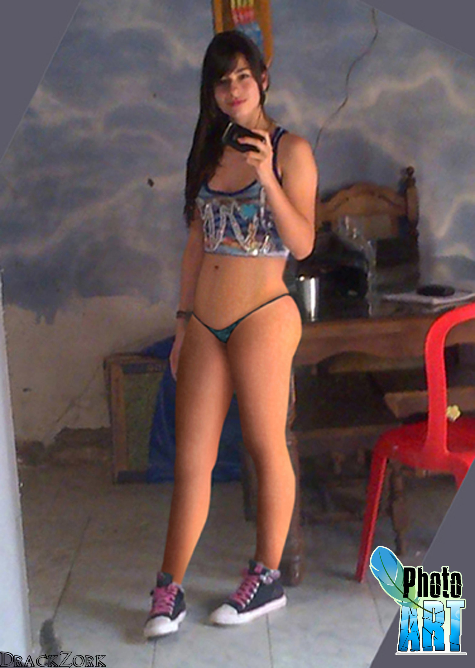 Nena sexy de colombia muestra su blanco cuerpo desnudo 8