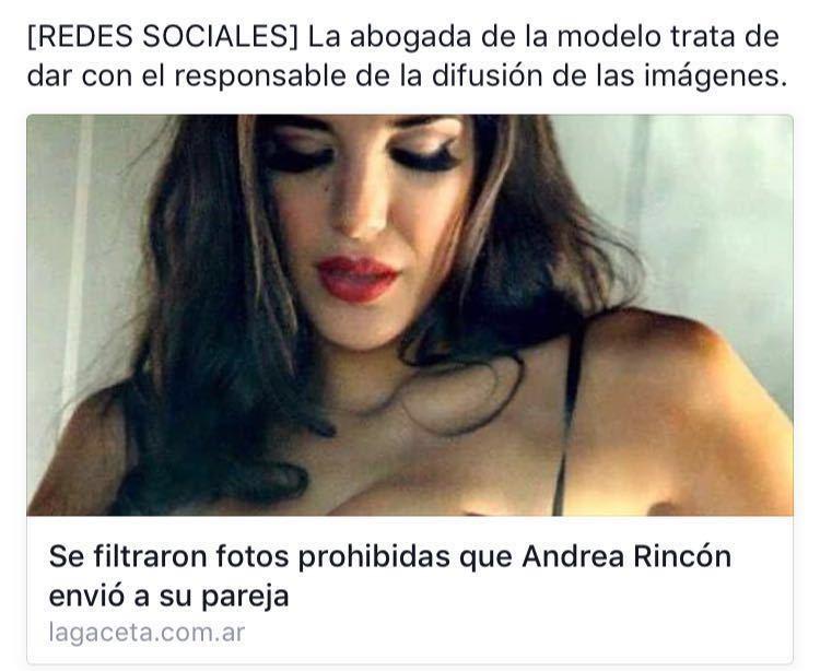 Fotos prohibidas que Andrea Rincon envio a su pareja