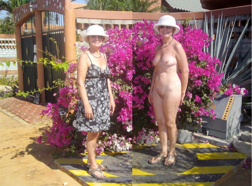 Amateurs veteranas vestidas y desnudas