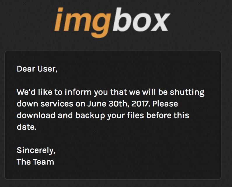 Sobre ImageBox cerrando su servicio