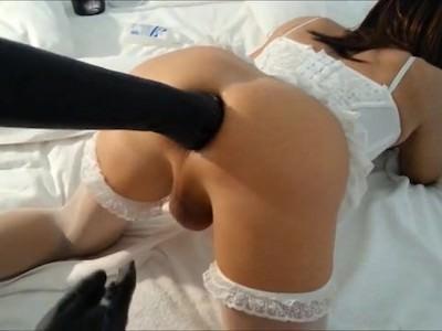 image Asian tranny masturbate her hard cock