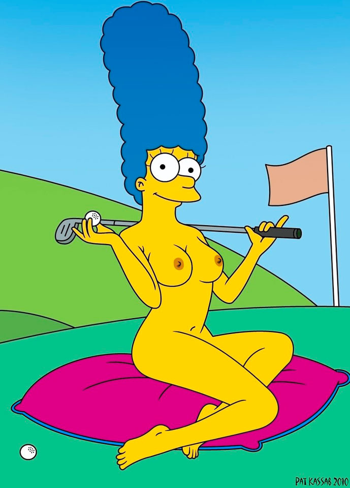 Marge simpson desnuda y desagradable