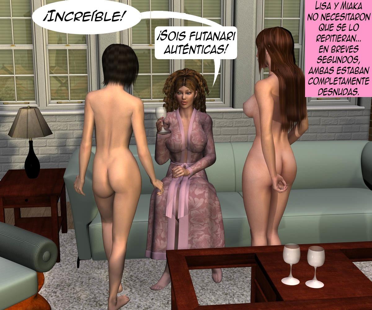 Comic porno futanari Colegio Santa Irene Cap 3 y 4